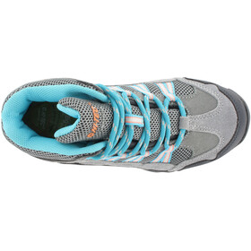 Hi-Tec Forza Mid WP Schuhe Kinder cool grey/curacao blue/papaya punch